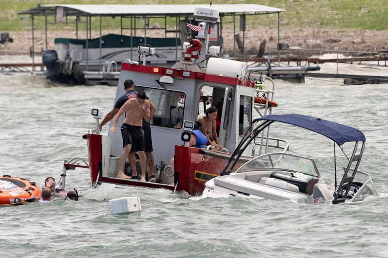 Several boats sink during parade for Donald Trump in Texas