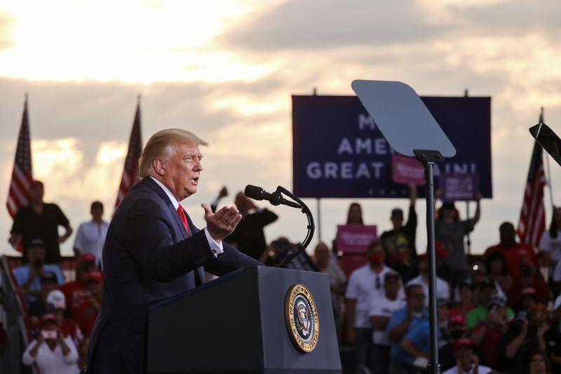 Trump And Biden Visit Shanksville To Honor 9/11