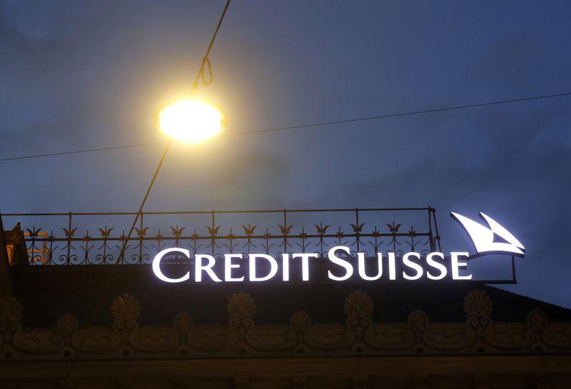 © Reuters. CREDIT SUISSE LANCE UNE NOUVELLE OFFRE BANCAIRE NUMÉRIQUE