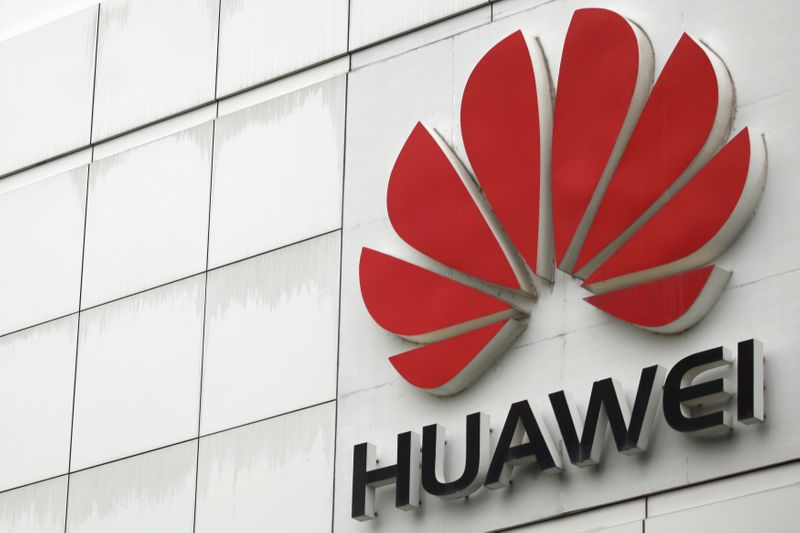 � Reuters. FILE PHOTO: The logo of the Huawei Technologies Co. Ltd. is seen outside its headquarters in Shenzhen, Guangdong province