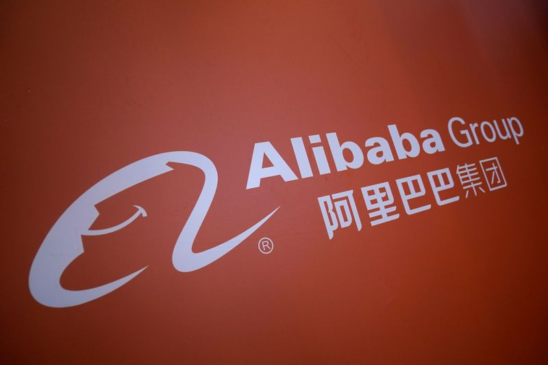� Reuters. A logo of Alibaba Group is seen at the World Internet Conference (WIC) in Wuzhen