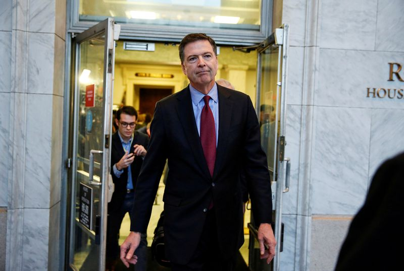 Ex-FBI Director Comey defends FBI Russia probe in...