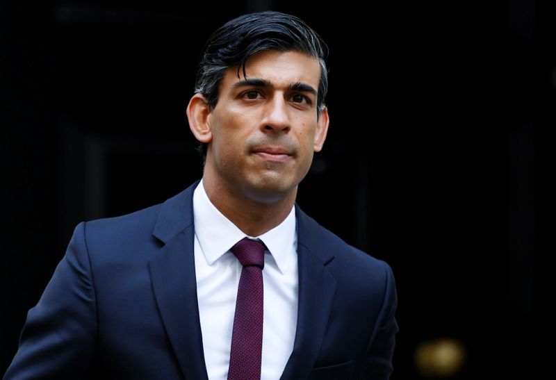 © Reuters. Britain's Chancellor of the Exchequer Rishi Sunak is seen at Downing Street in London