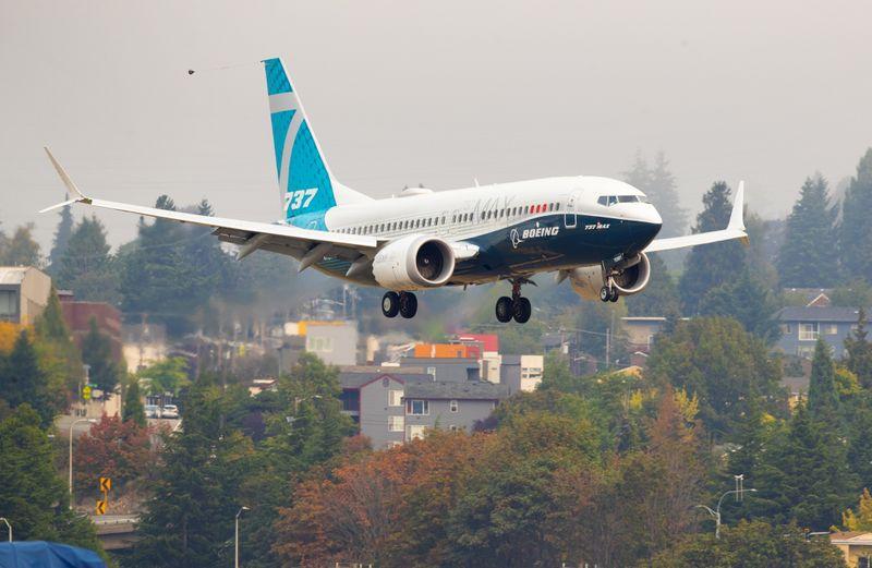 © Reuters. USA: NOUVELLE ÉTAPE EN VUE DE LA REPRISE DES VOLS DU BOEING 737 MAX