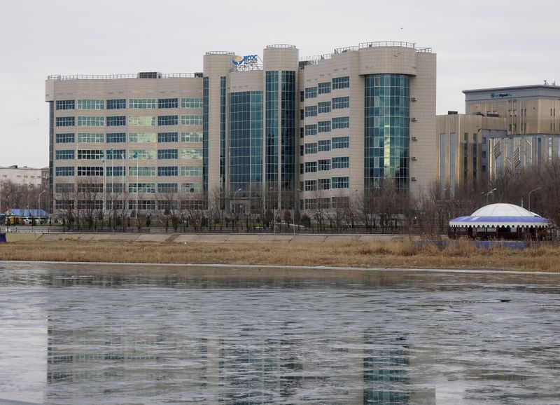 © Reuters. Office of North Caspian Operating Company N.V. is seen in Atyrau