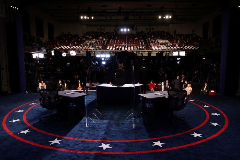© Reuters. 2020 vice presidential debate in Salt Lake City