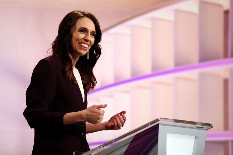 © Reuters. FILE PHOTO: New Zealand Prime Minister Ardern participates in a debate in Auckland