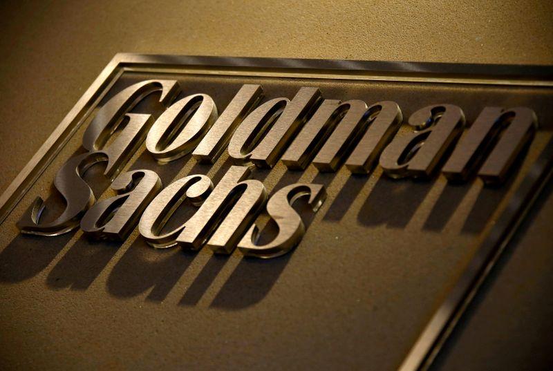 © Reuters. LES OBJECTIFS DE GOLDMAN SACHS MENACÉS PAR LA PANDÉMIE