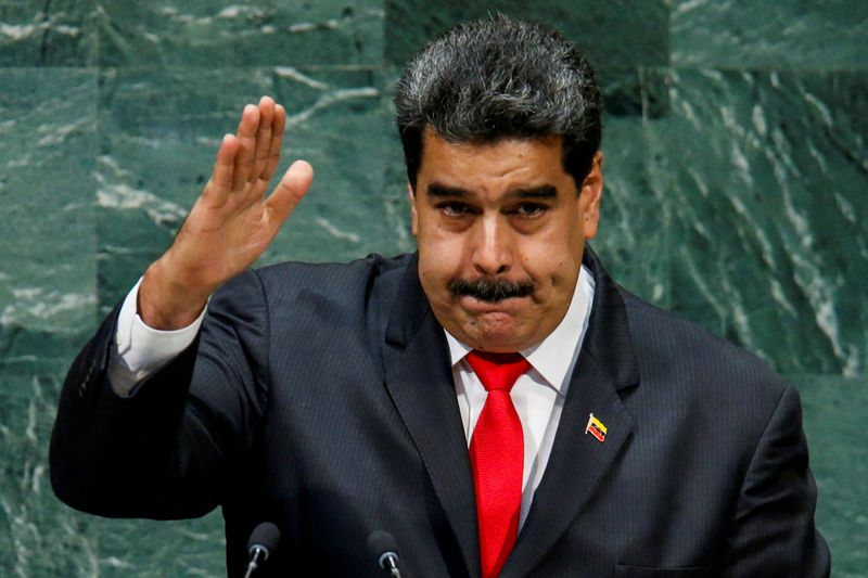 © Reuters. FILE PHOTO: FILE PHOTO: Venezuela's President Maduro addresses the General Assembly in New York