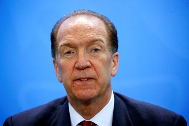 © Reuters. FILE PHOTO: World Bank Group President Malpass attends news conference after meeting at Chancellery in Berlin
