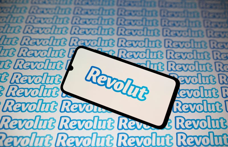 © Reuters. Smartphone with Revolut logo is seen in this illustration