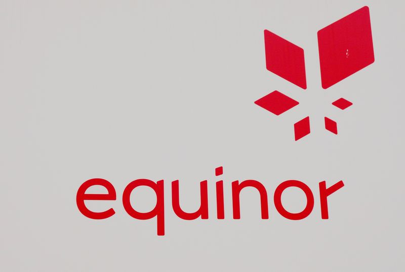 © Reuters. Equinor's logo is seen next to the company's headquarters in Stavanger