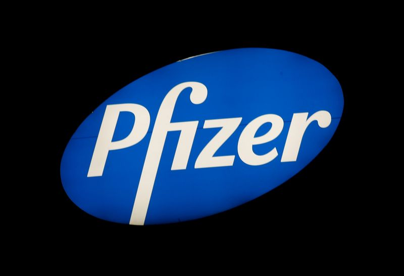 © Reuters. Logo of U.S. pharmaceutical corporation Pfizer Inc. is seen in Zurich