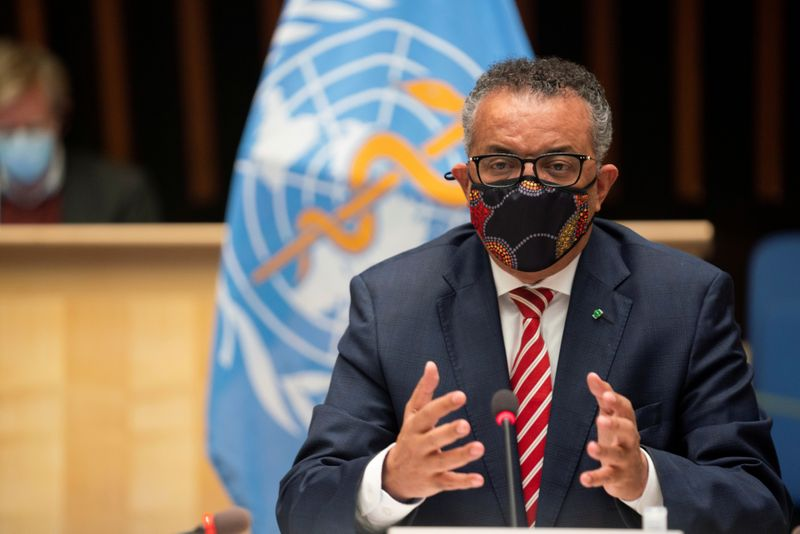 WHO chief Tedros says 184 countries signed up to vaccine facility
