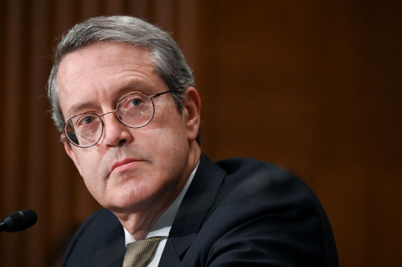 © Reuters. Quarles, vice chairman of the Federal Reserve Board of Governors, testifies before a Senate Banking, Housing and Urban Affairs Committee hearing in Washington