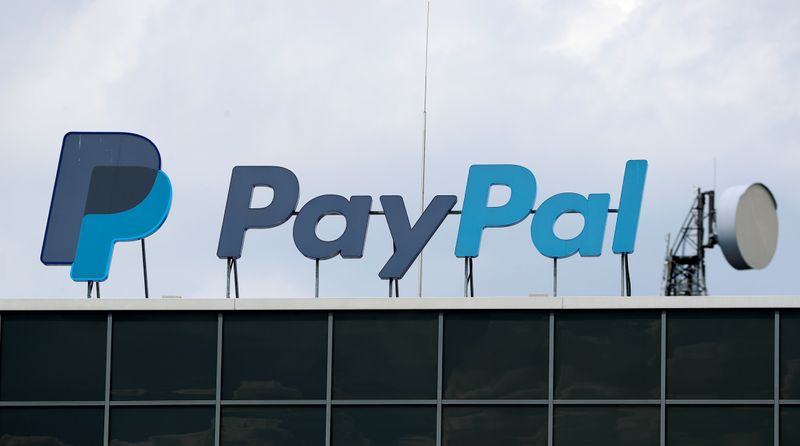 © Reuters. The German headquarters of PayPal is pictured at Europarc Dreilinden business park south of Berlin in Kleinmachnow