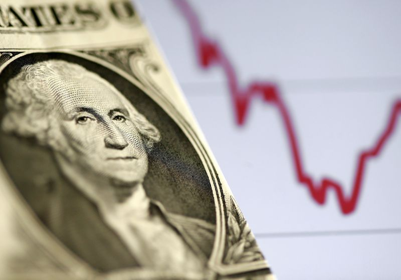 © Reuters. FILE PHOTO: A U.S. dollar note is seen in front of a stock graph in this picture illustration