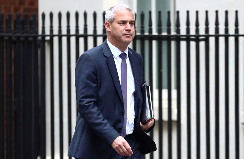 © Reuters. FILE PHOTO:  Chief Secretary of the Treasury Stephen Barclay is seen outside Downing Street in London