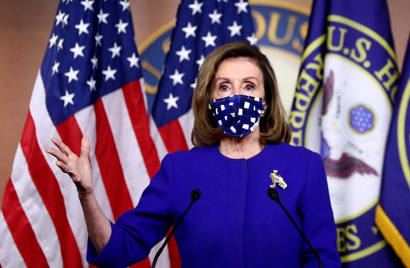 © Reuters. U.S. House Speaker Pelosi holdsnews conference on Capitol Hill in Washington