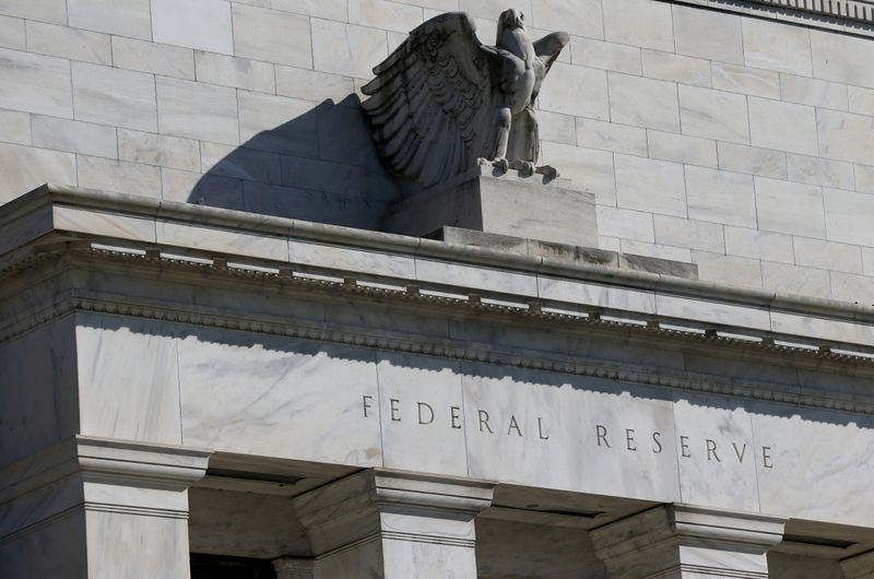 © Reuters. FILE PHOTO: Federal Reserve Board building on Constitution Avenue is pictured in Washington