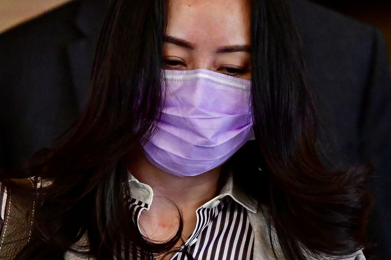 © Reuters. FILE PHOTO: Huawei Technologies Chief Financial Officer Meng Wanzhou leaves a court hearing in Vancouver