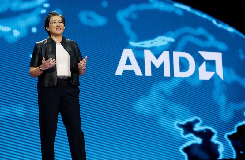 © Reuters. AMD ANNONCE LE RACHAT DE XILINX POUR 35 MILLIARDS DE DOLLARS