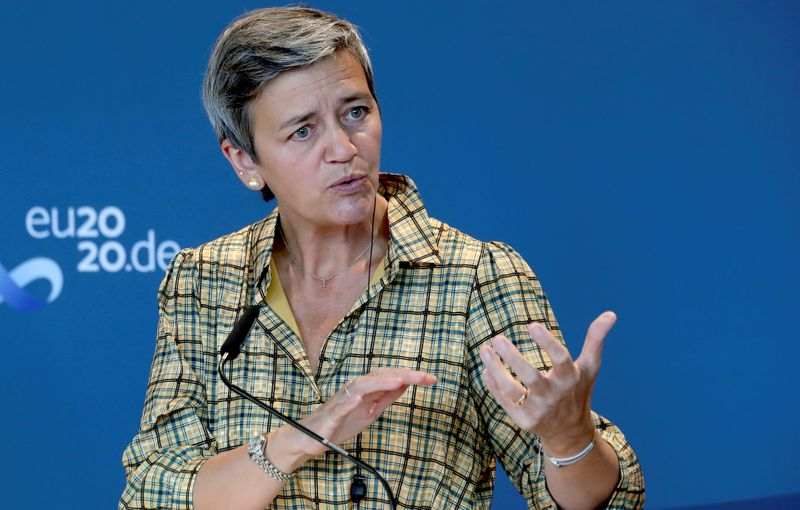 Tech giants face tougher new rules, more power to enforcers, EU's Vestager says