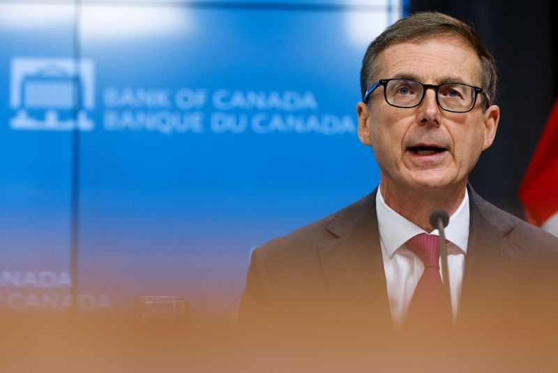© Reuters. Bank of Canada Governor Tiff Macklem takes part in a news conference in Ottawa