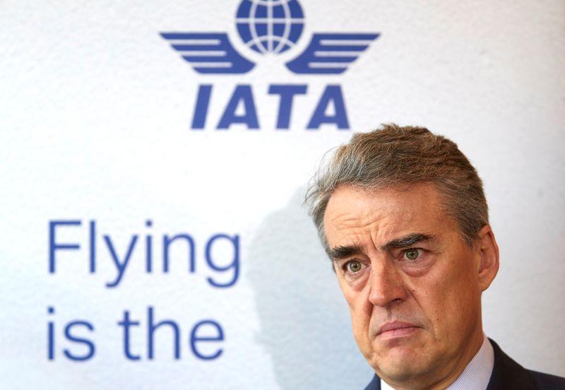 © Reuters. LA CRISE SANITAIRE VA RÉDUIRE LE NOMBRE DE COMPAGNIES AÉRIENNES, SELON IATA