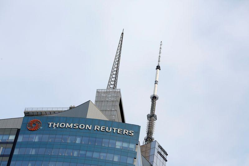 © Reuters. THOMSON REUTERS, À SUIVRE À WALL STREET