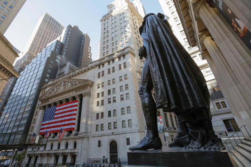 Wall Street The statue of former U.S. President George Washington stands across the New York Stock Exchange (NYSE) following Election Day in Manhattan, New York City