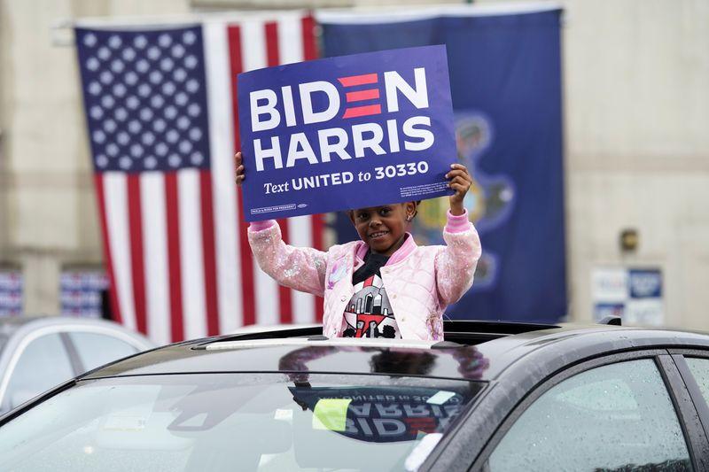 Investors celebrate Biden winning U.S. presidency