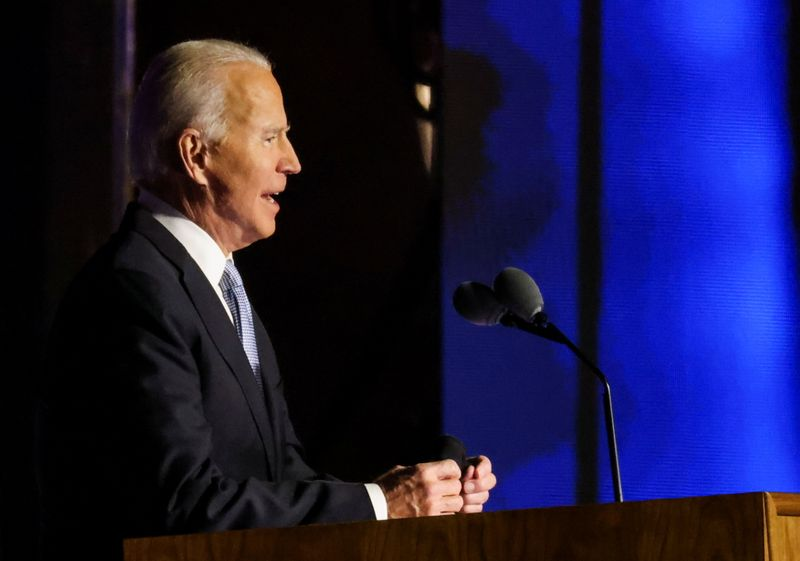 Biden declares 'clear victory' in close U.S. presidential race By Reuters