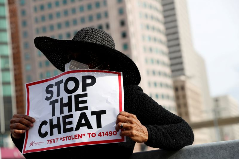 © Reuters. Protestas tras las elecciones presidenciales de EEUU del 2020 en Detroit