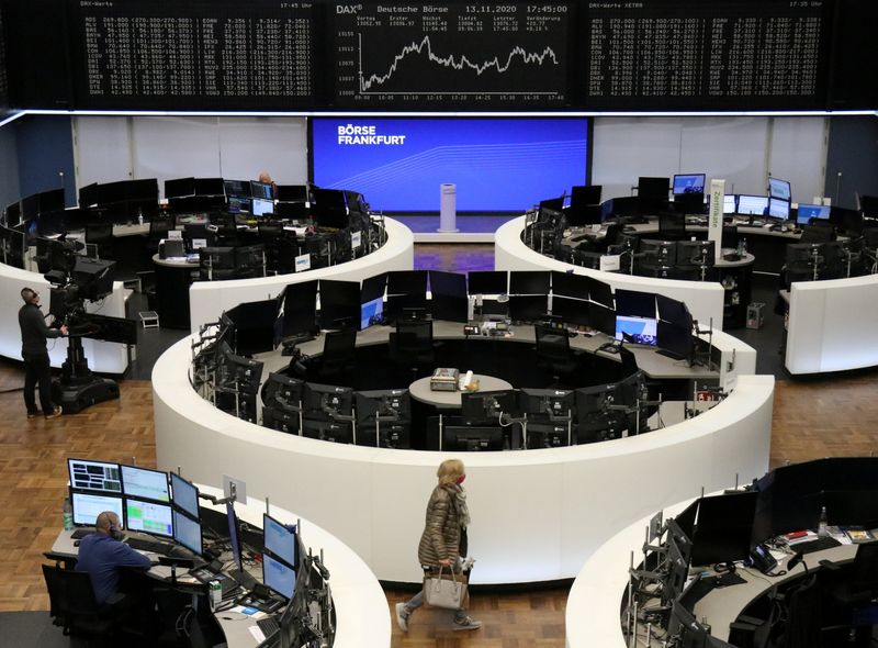 European shares rise as vaccine hopes, China data boost recovery hopes