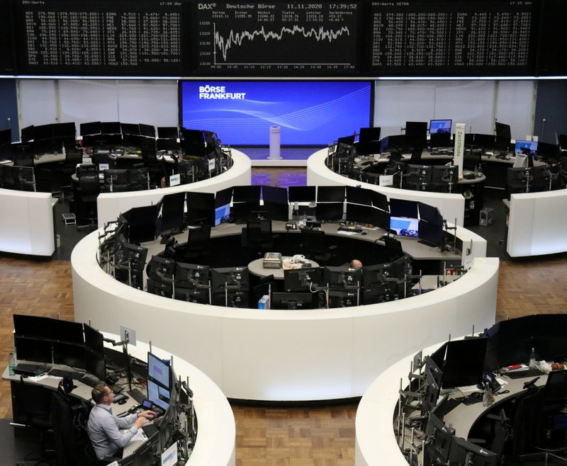 European shares slip after vaccine-driven rally
