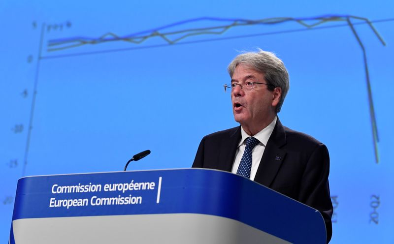 © Reuters. 2020 Economic Forecasts at EU HQ in Brussels