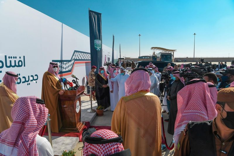 © Reuters. Iraq-Saudi Arabia border crossing opens for trade