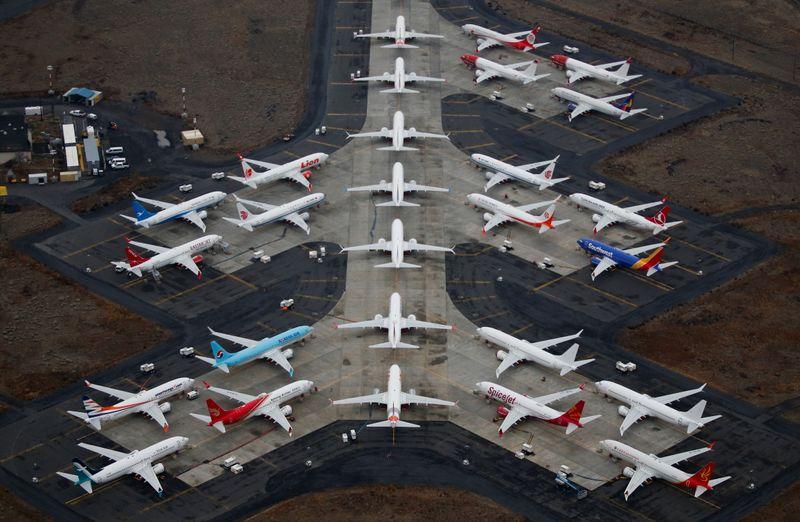 © Reuters. LE BOEING 737 MAX DEVRAIT ÊTRE DE NOUVEAU AUTORISÉ EN JANVIER PAR LE RÉGULATEUR EUROPÉEN