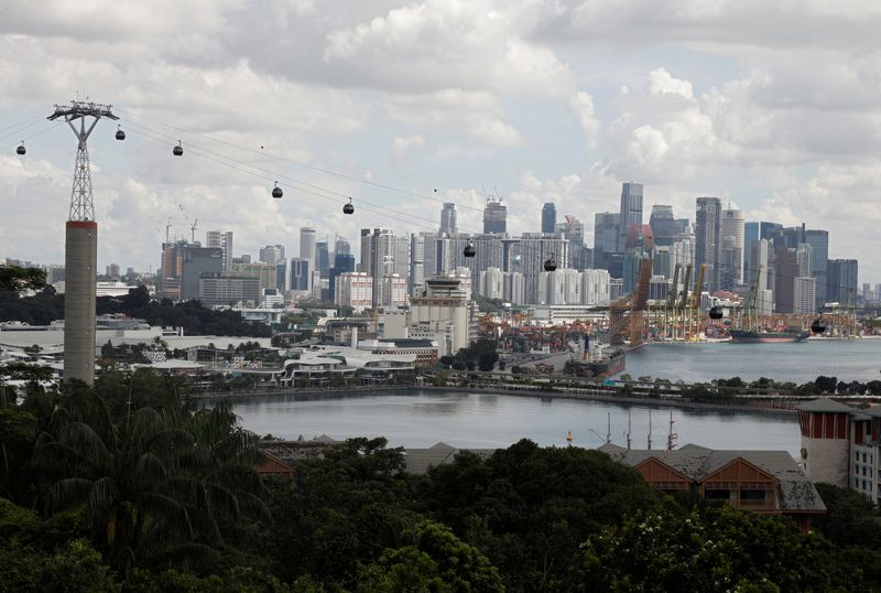 © Reuters. A view of Singapore's skyline