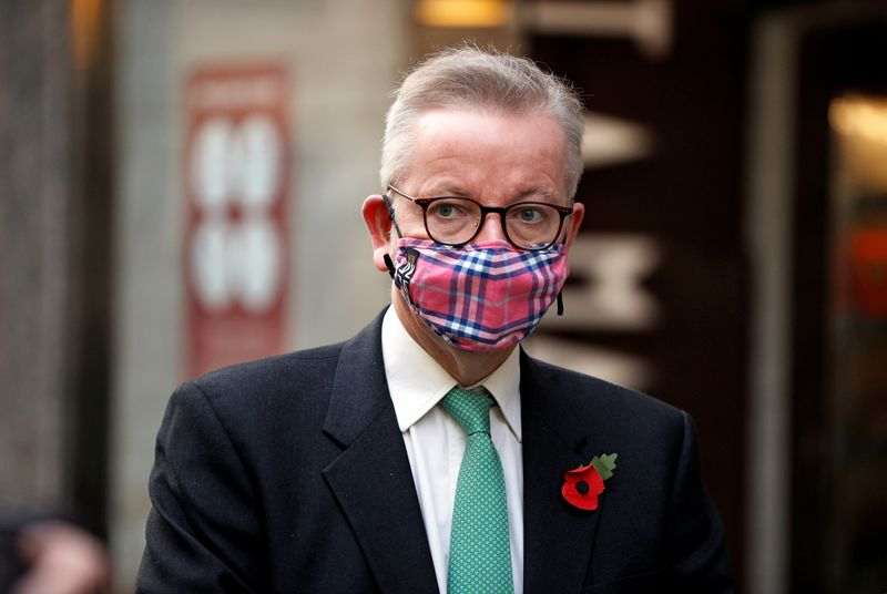 © Reuters. Britain's Chancellor of the Duchy of Lancaster Michael Gove is seen in London