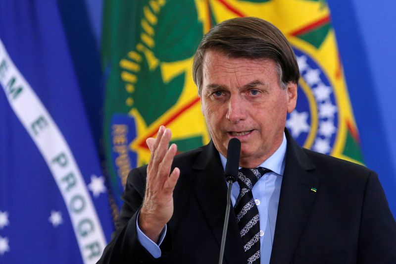 Brazil's Bolsonaro says he will not take coronavirus vaccine