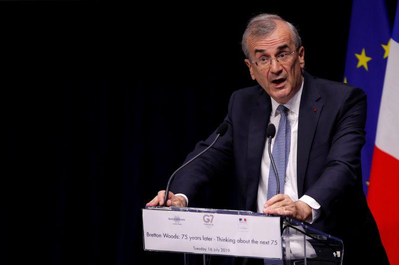© Reuters. LA BCE DOIT MAINTENIR DES CONDITIONS DE FINANCEMENT TRÈS FAVORABLES, DIT VILLEROY DE GALHAU