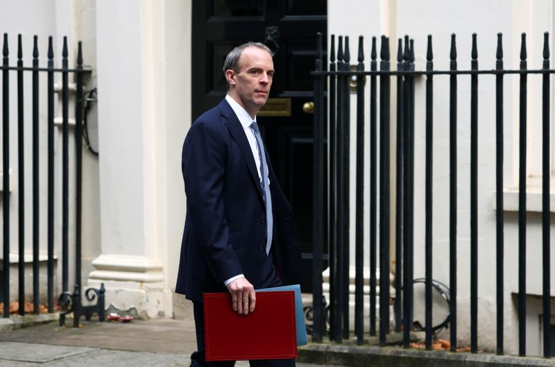 UK's Raab says Brexit talks in 'reasonable position'