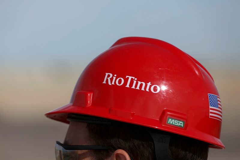 © Reuters. FILE PHOTO: The Rio Tinto mine in Boron, California
