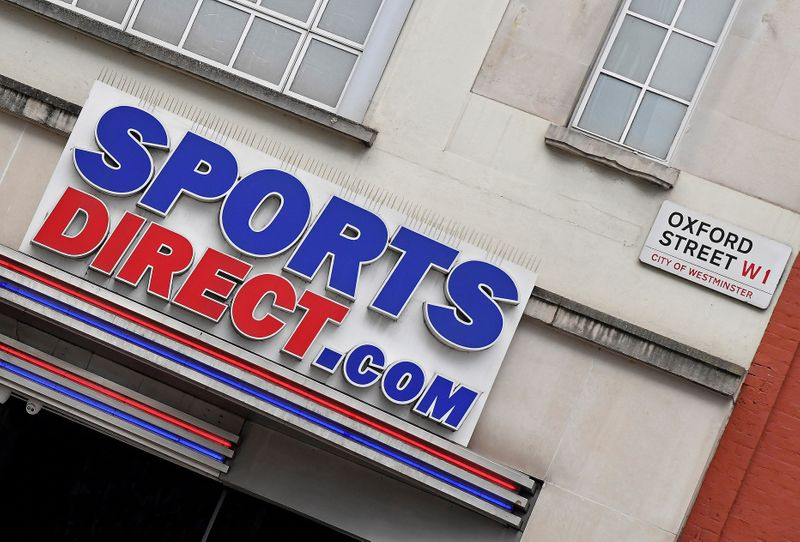 © Reuters. Branch of Sports Direct seen in Oxford Street, London