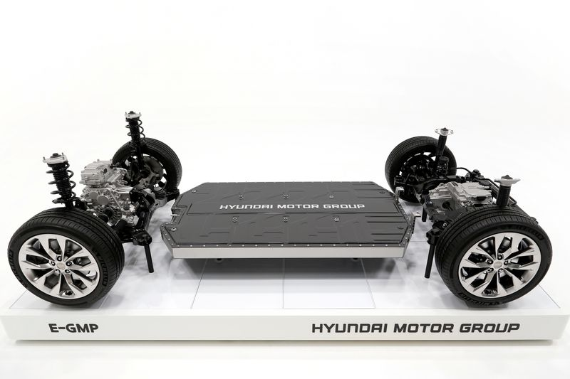 © Reuters. Hyundai's new electric vehicle-focused modular platform Electric Global Modular Platform (E-GMP) is seen