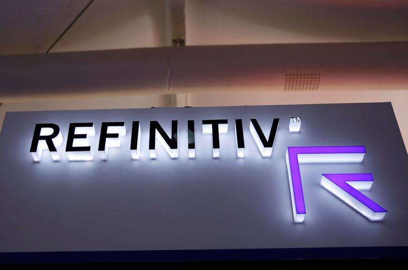 © Reuters. Il logo di Refinitiv presso la China International Fair for Trade in Services