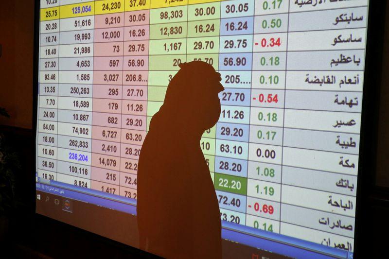 © Reuters. الأسهم السعودية تختم الأسبوع منخفضة؛ وأخبار اللقاحات تدعم باقي الخليج