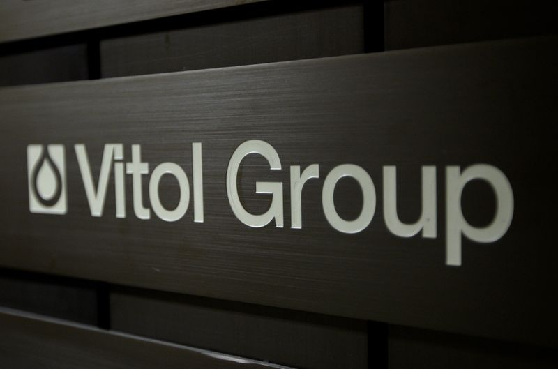 © Reuters. FILE PHOTO: A sign is pictured in front of the Vitol Group trading commodities company building in Geneva